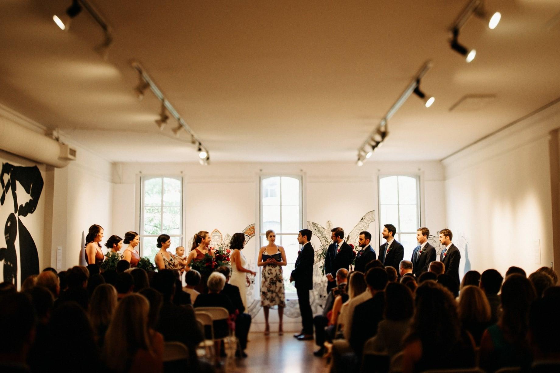 art gallery wedding in Ann Arbor