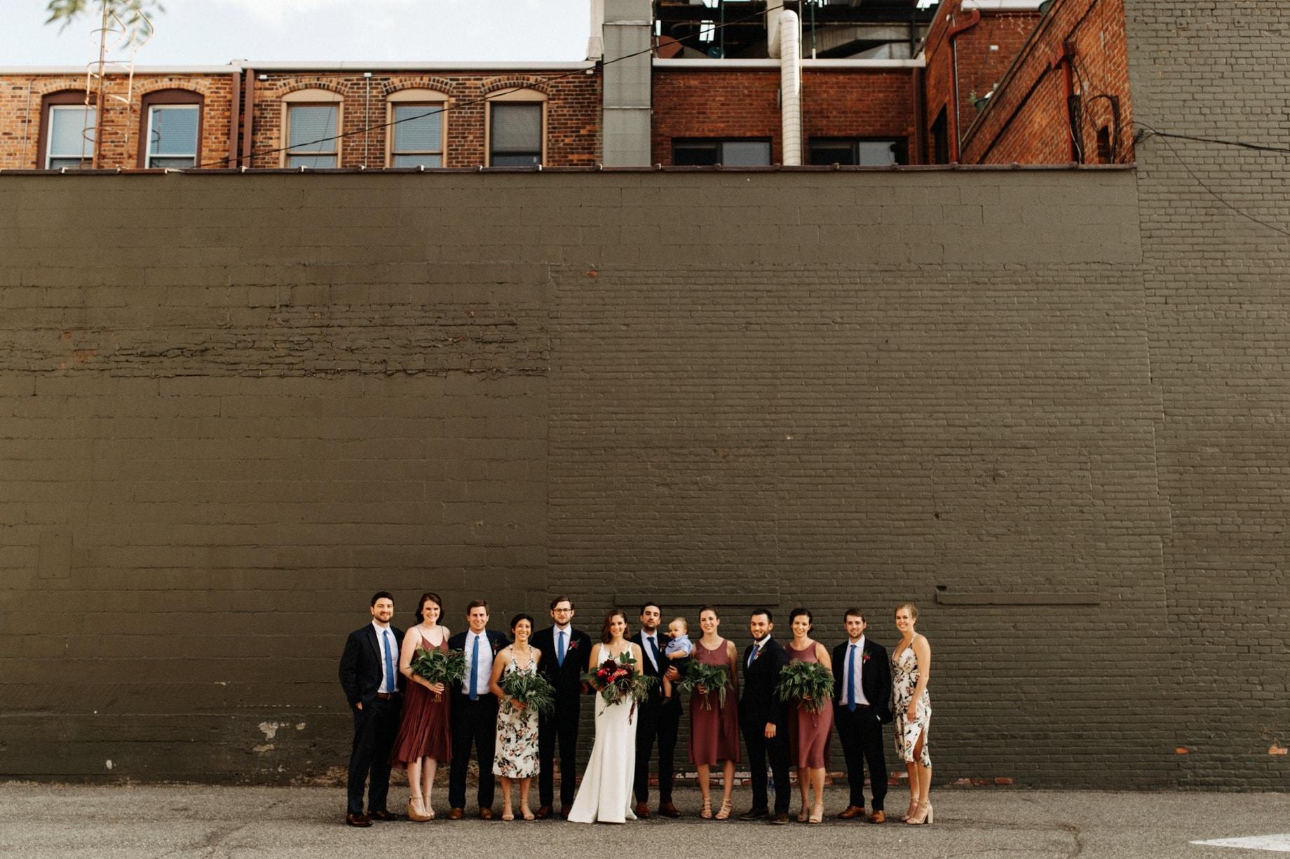wedding party in Aritzia dresses