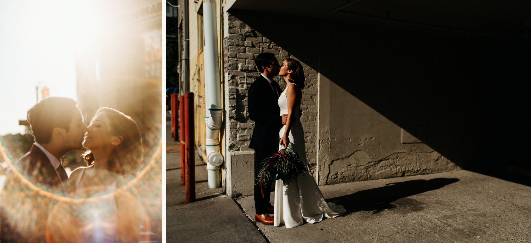 bride and groom portraits in downtown ann arbor