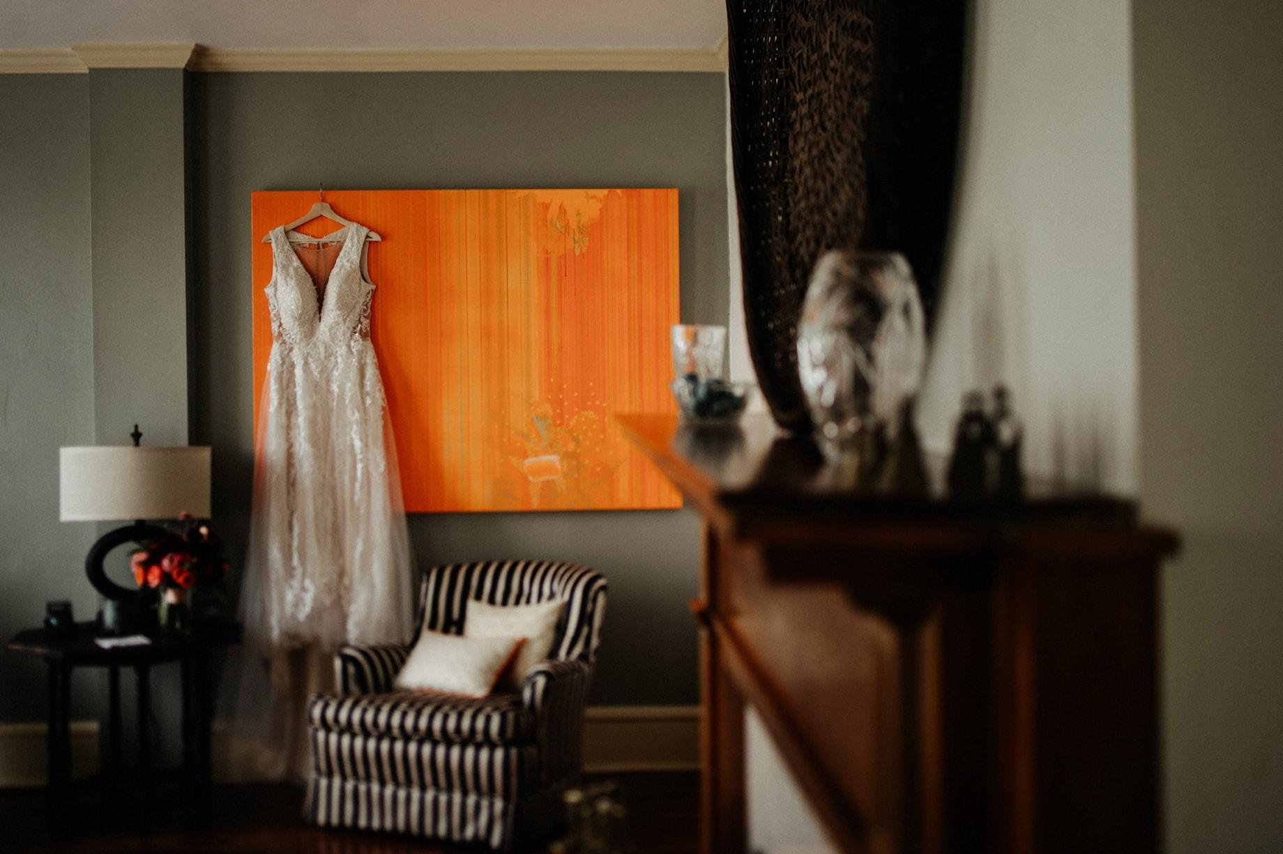 modern wedding dress photograph