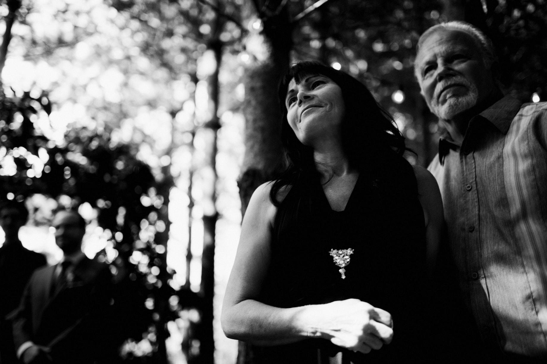 parents of the groom watching wedding ceremony