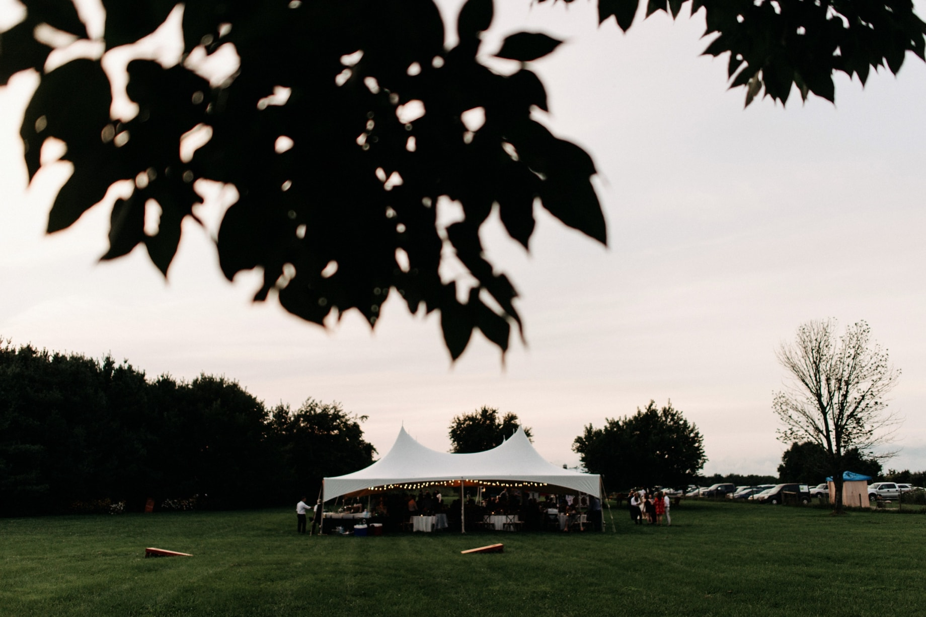 the wedding tent at the orchard house bed and breakfast