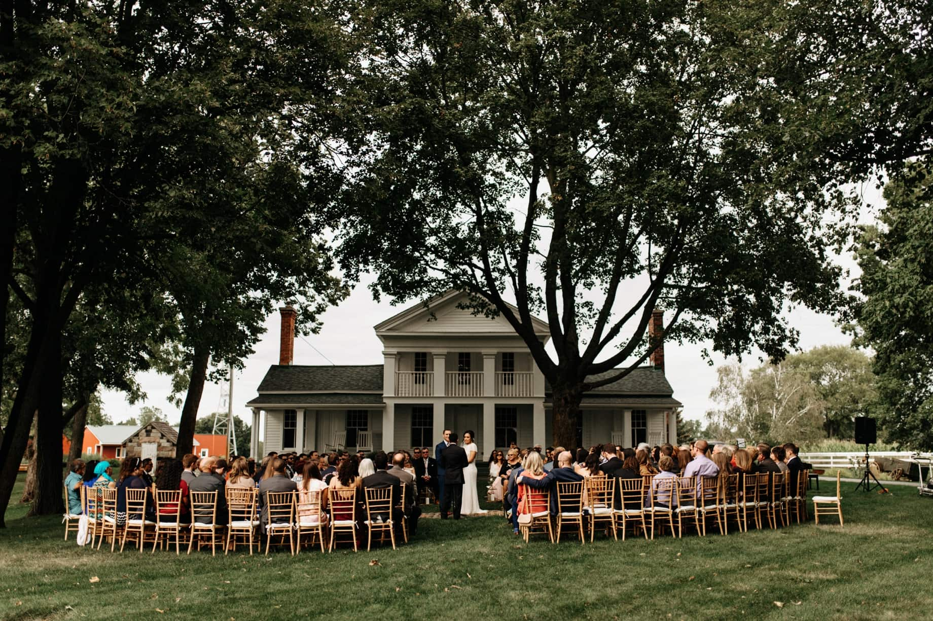 ceremony in the round at cornman farms