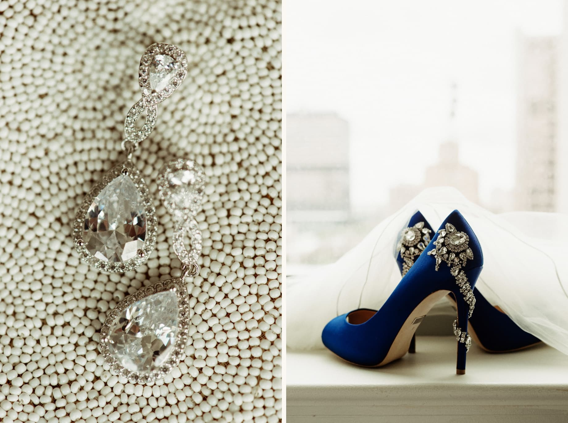 vintage style bridal details at a ford piquette plant wedding