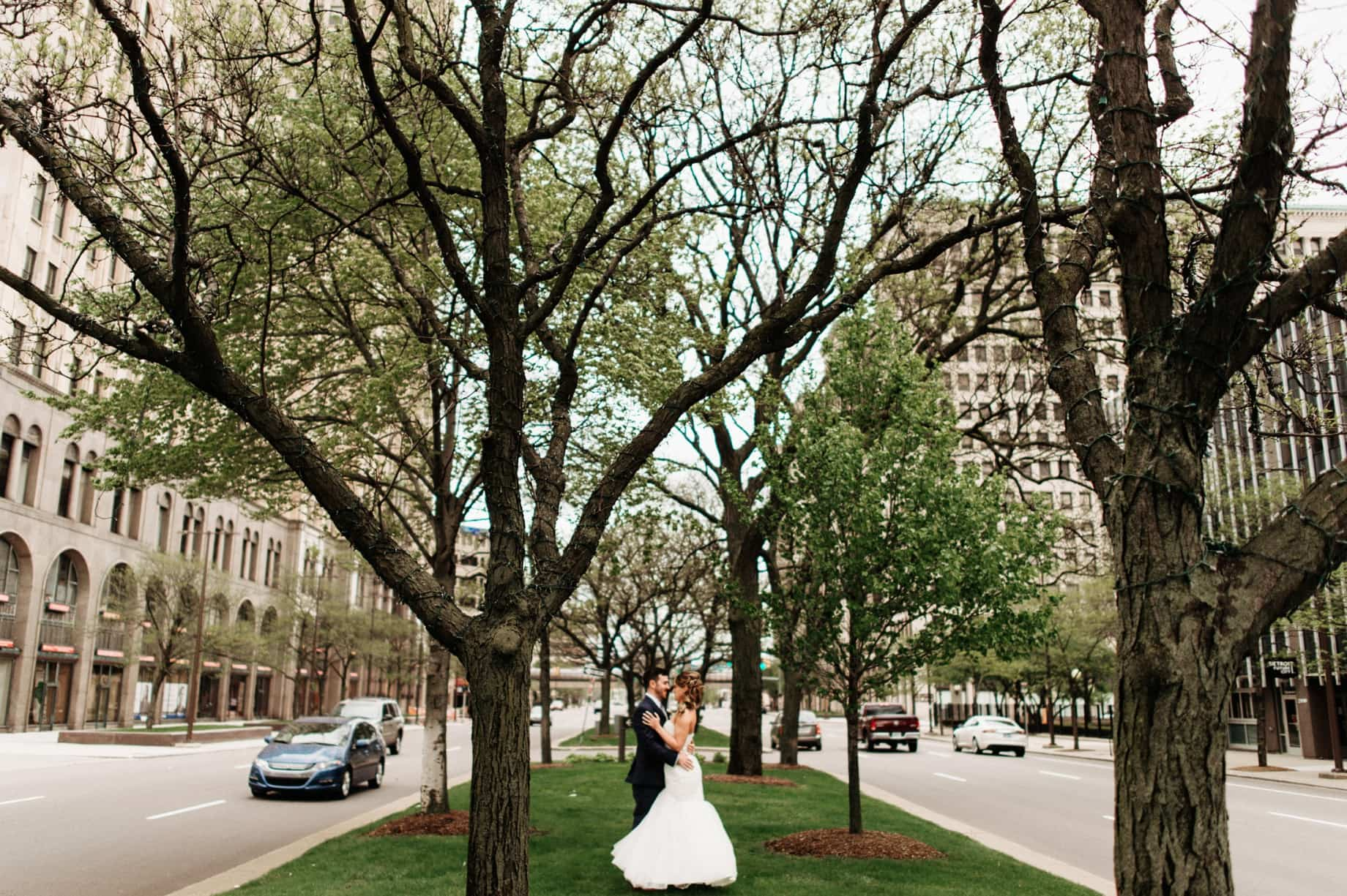 wedding photography in New Center Detroit