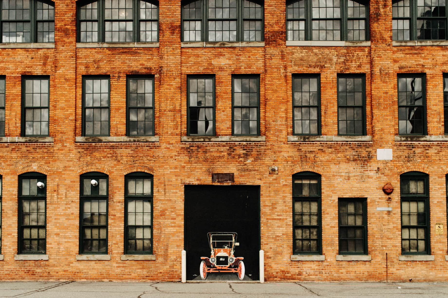 exterior photograph of the Ford Piquette Plant