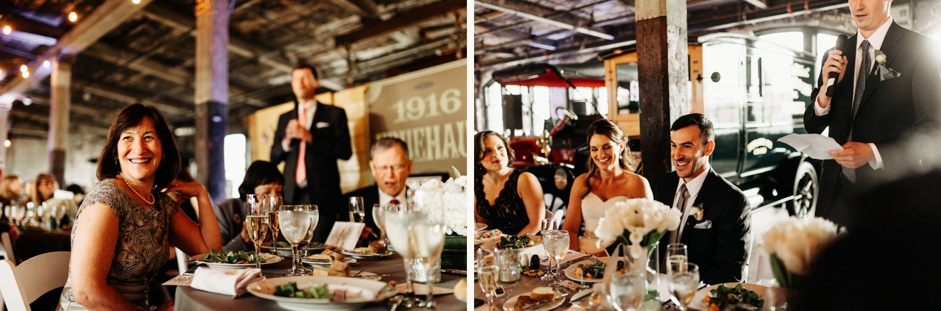 toast reactions during a wedding at the piquette plant