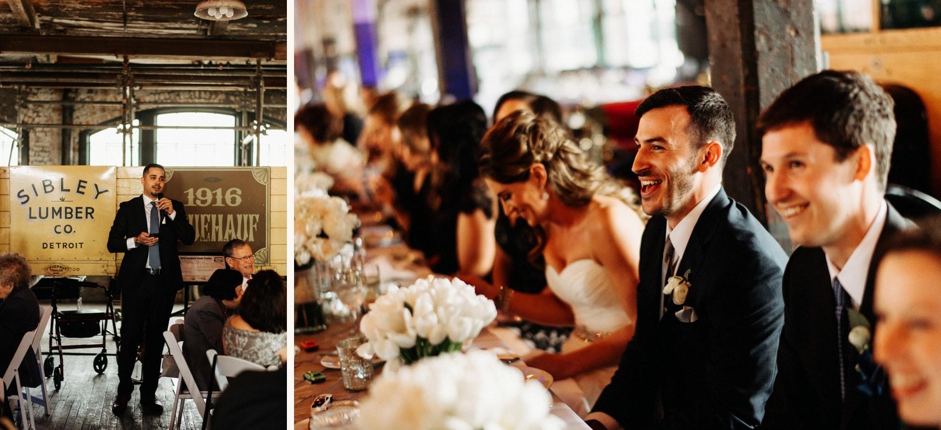best man speech by Detroit Wedding photographer Heather Jowett