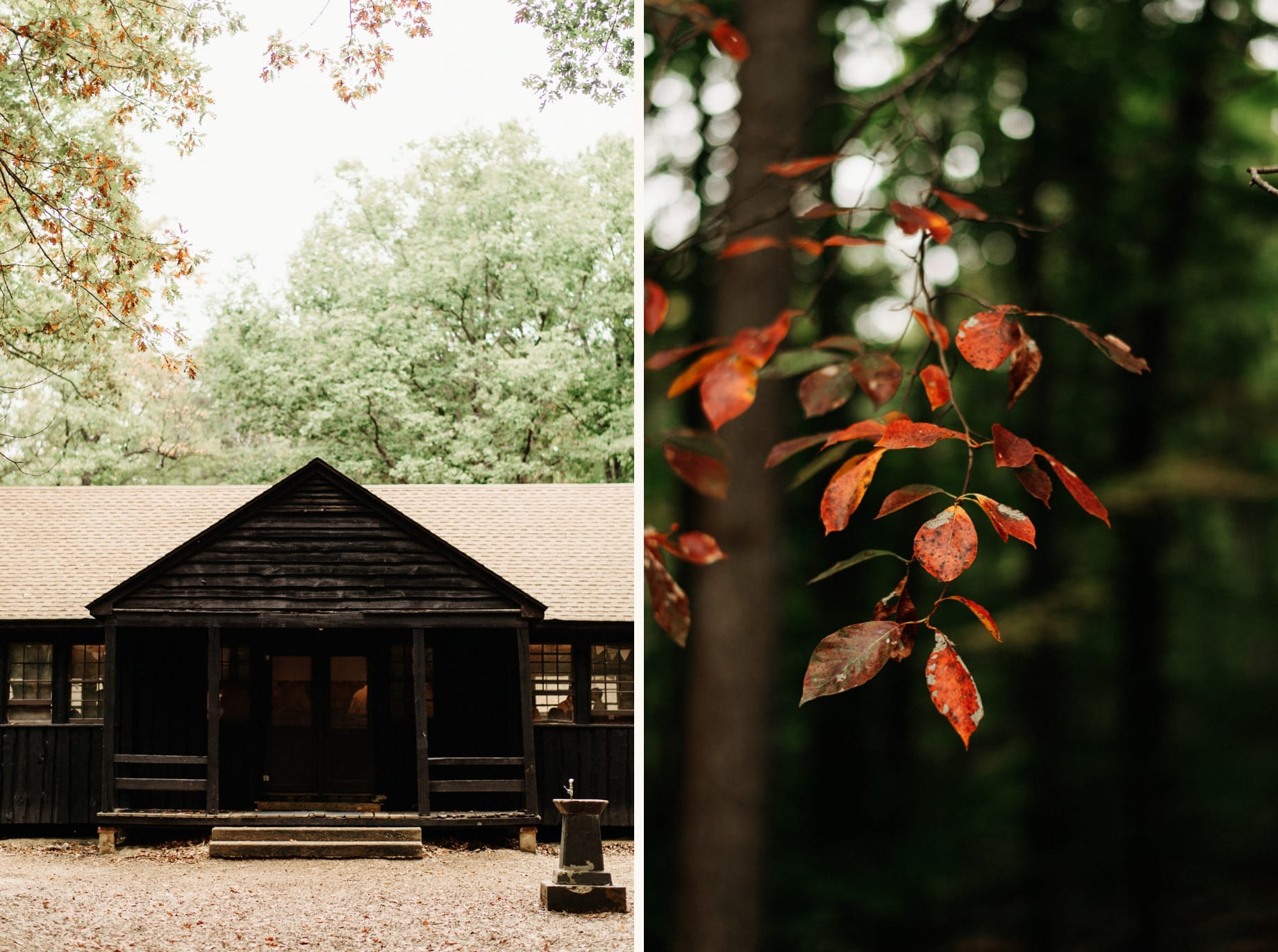 Exterior shots of outbuildings at Prince William Forest Park
