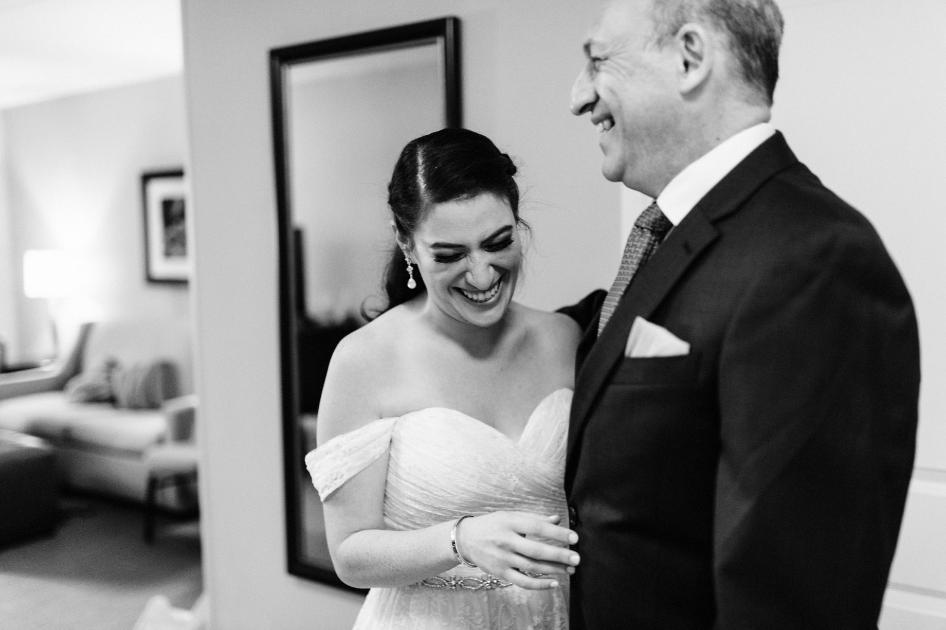 Bride sees father for first time