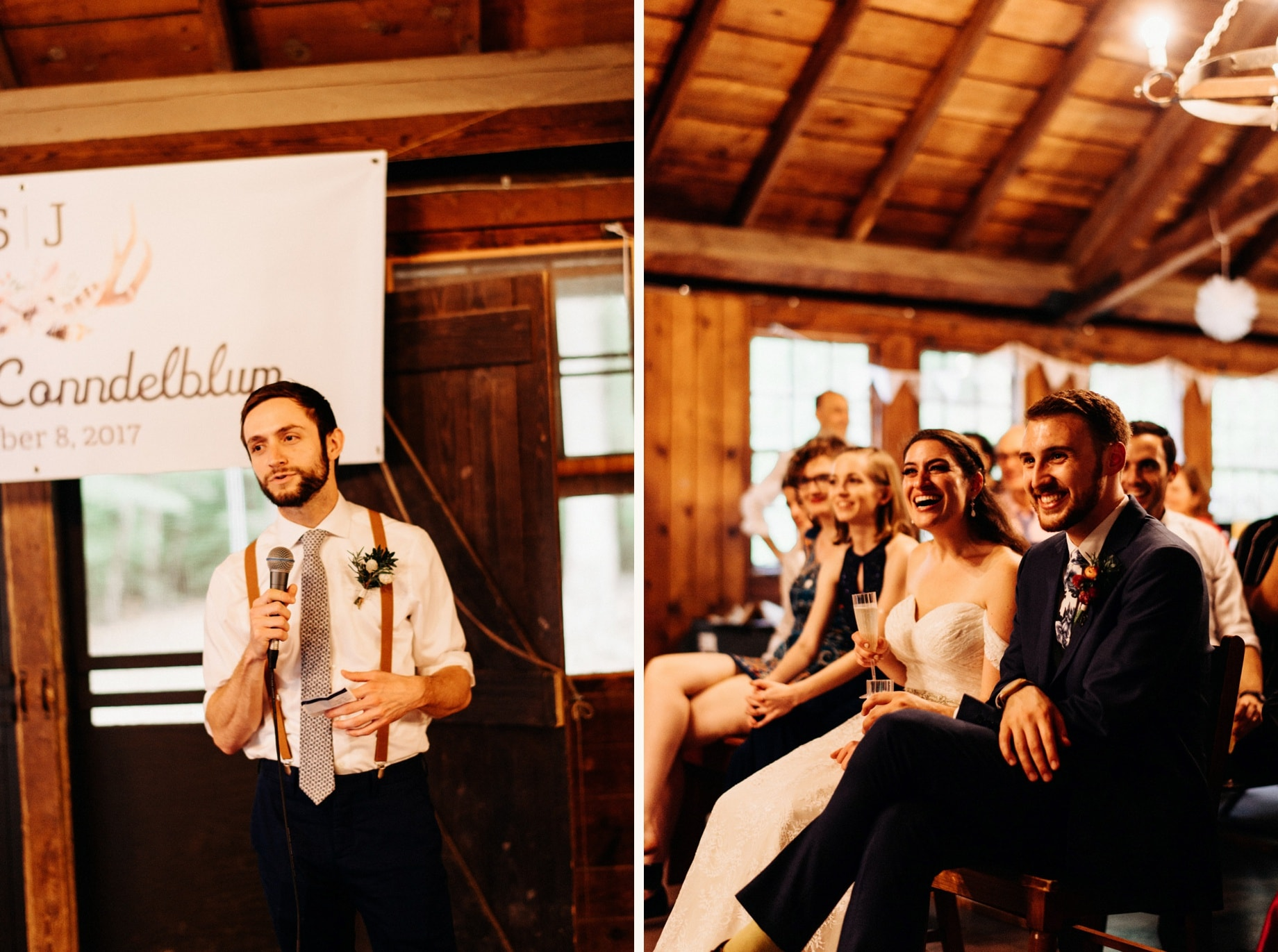 best man speech at a camp wedding