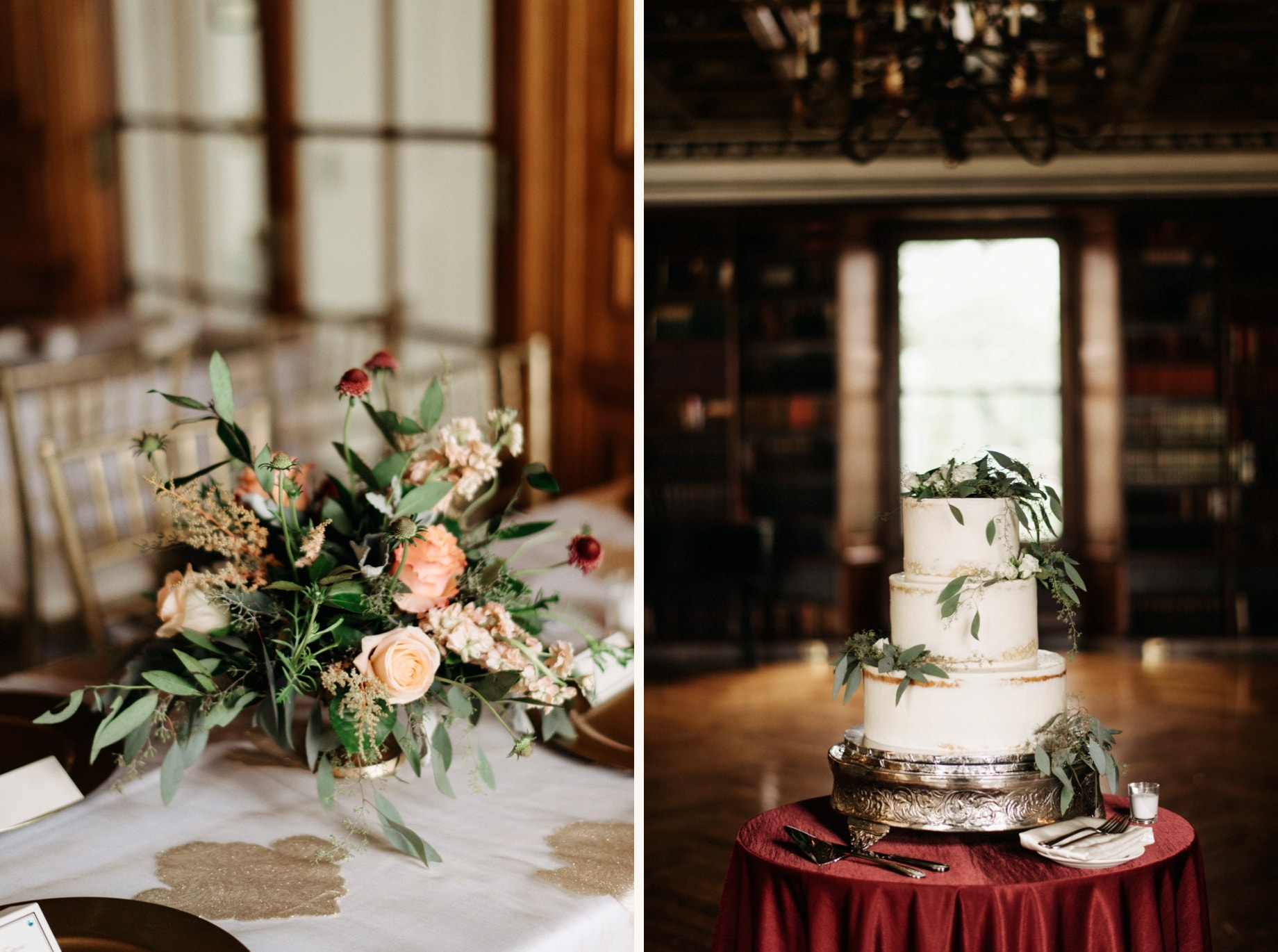 wedding florals and cake