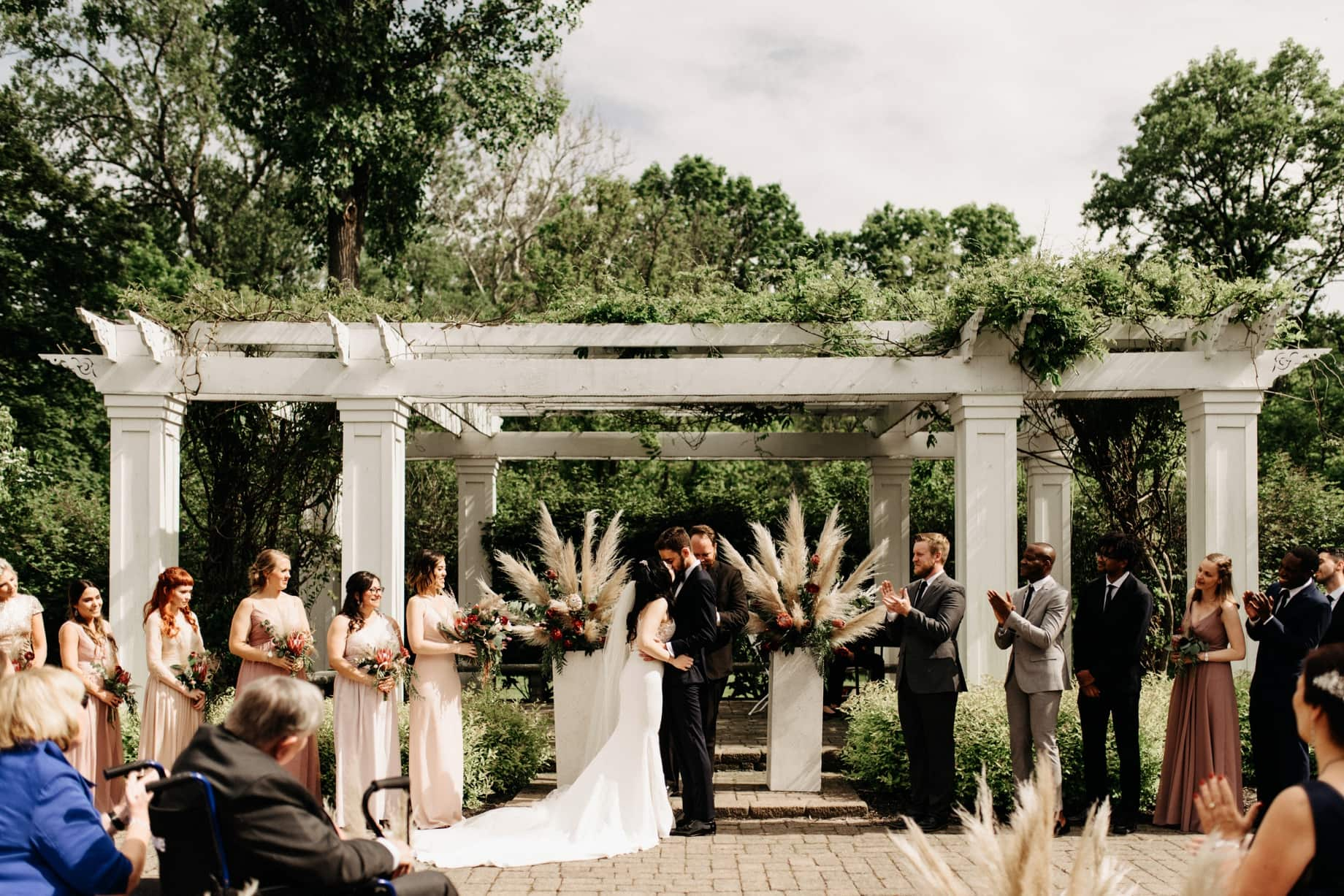 first kiss at a ceremony at Wellers