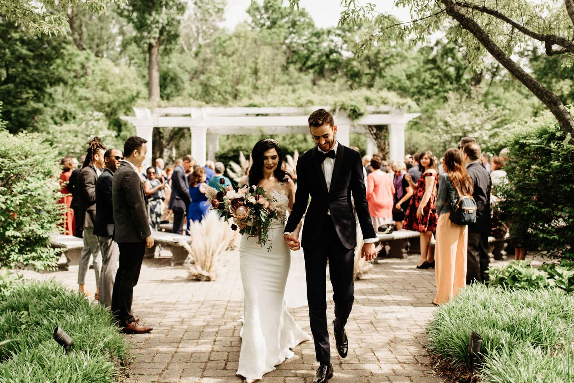 recessional after a wedding ceremony