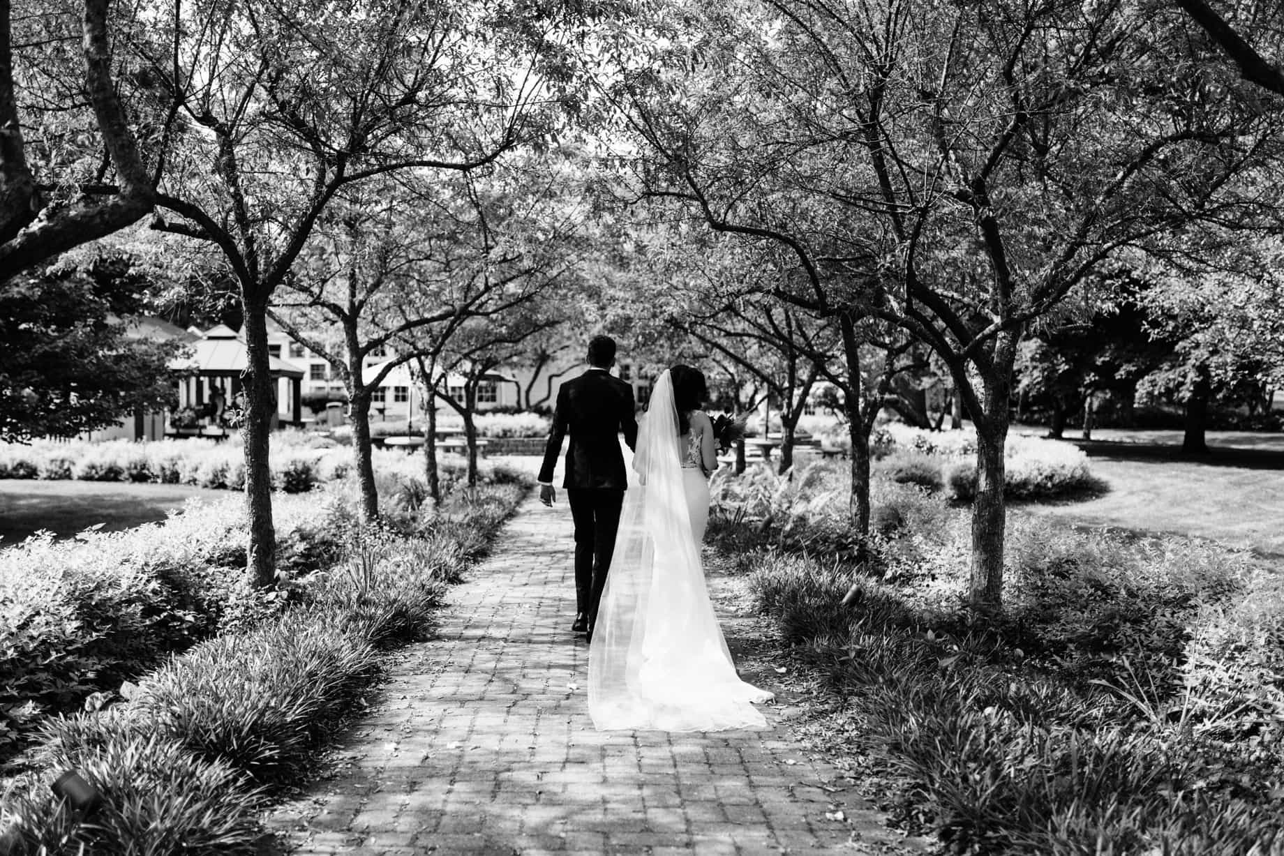 bride and groom leaving their wedding ceremony