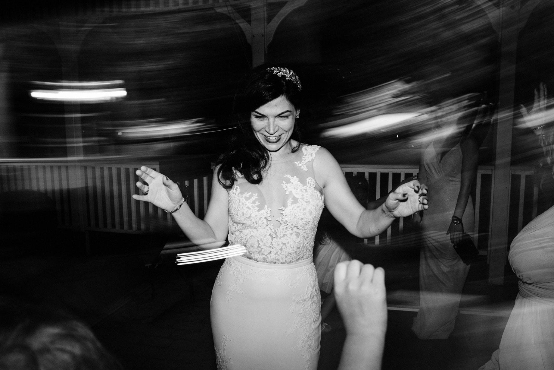 bride dancing in the gazebo at wellers