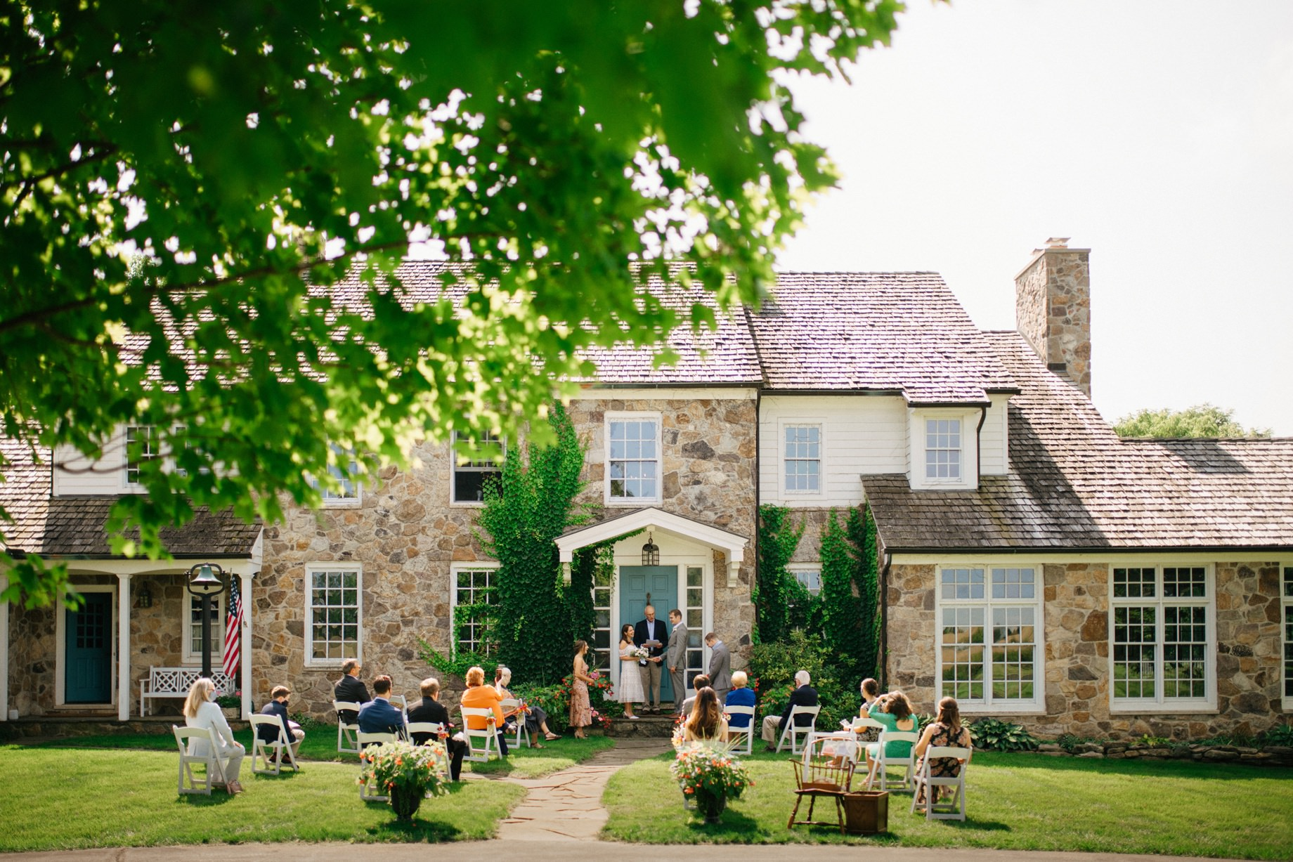 a socially distanced at home intimate covid wedding by photojournalistic Detroit wedding photographer Heather Jowett