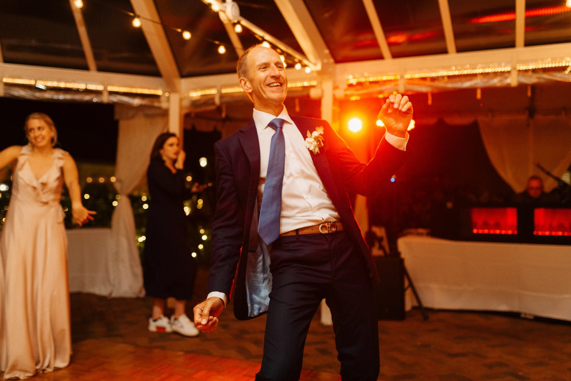 father of the bride cutting a rug